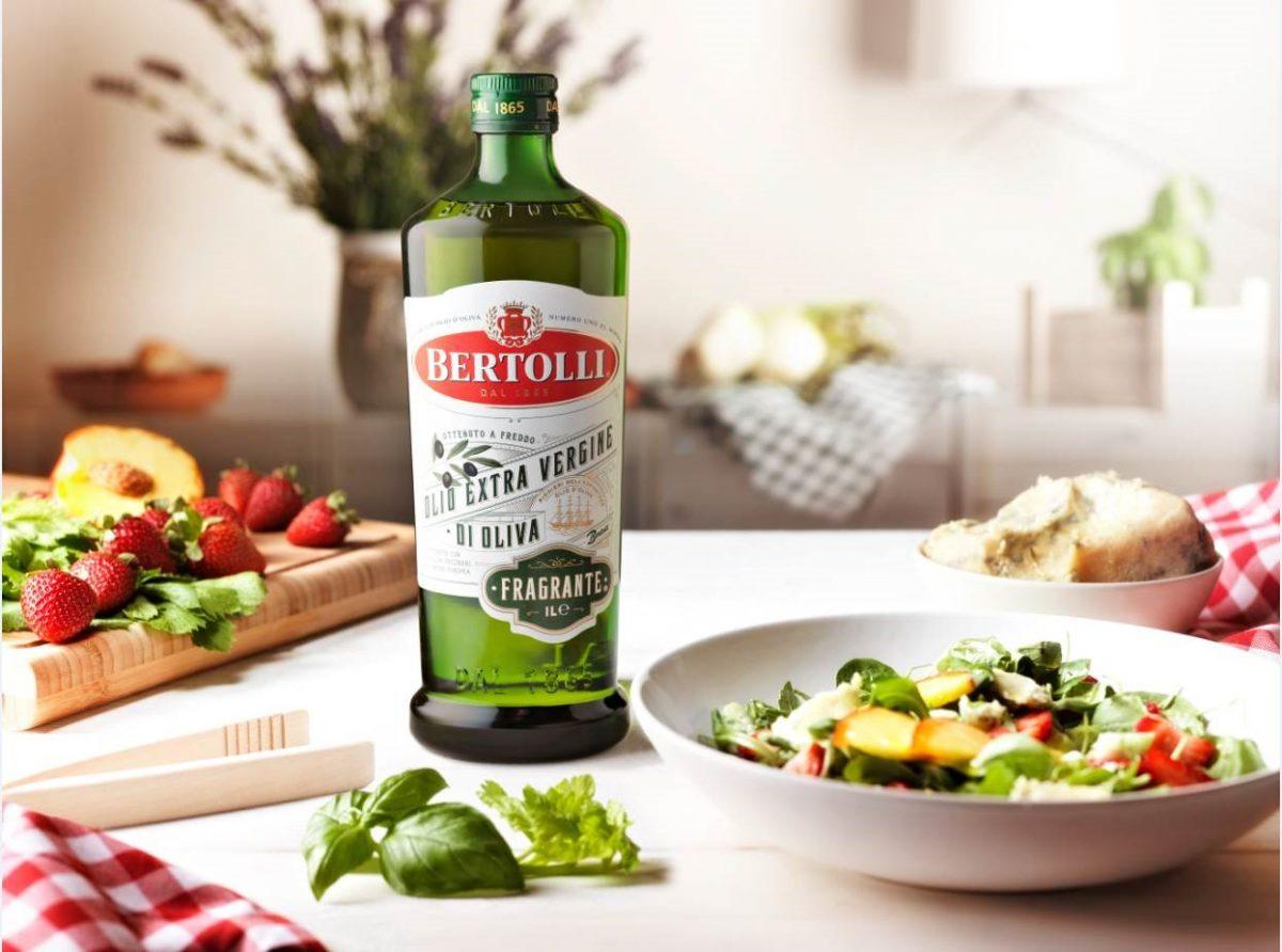 Süße Speisen mit besten Bertolli Olivenöl Fragante